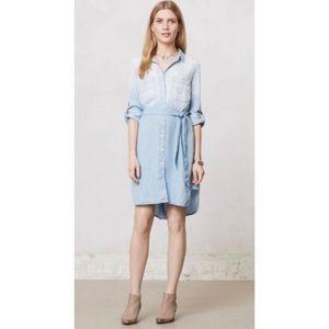Cloth & Stone Chambray Dress sz M anthropologie